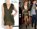 In Sienna Miller's Closet - Matthew Williamson Pleated Dress