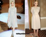 """Never Let Me Go"" Press Conference - Carey Mulligan In Marc Jacobs"