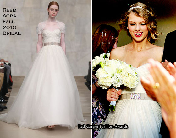"""b052ccf7378 Runway To """"Mine"""" Music Video – Taylor Swift In Reem Acra - Red ..."""