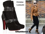 In Kylie Minogue's Closet - Christian Louboutin Guerriere 120 Suede Ankle Boots