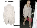 In Dakota Fanning's Closet - All Saints Yossi Cape