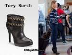 In Hilary Swank's Closet – Tory Burch Lysa Chain Ankle Boots