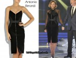 In Dannii Minogue's Closet – Antonio Berardi Velvet Strapless Dress