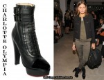 In Olivia Palermo's Closet - Charlotte Olympia Patent Toe Lace Up Bootie