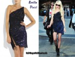 In Taylor Momsen's Closet - Emilio Pucci Asymmetrical Beaded Lace Dress