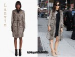 In Katie Holmes Closet - Lanvin Leopard Print Trench