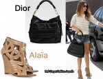 In Rachel Bilson's Closet - Christian Dior Libertine Hobo & Alaia Wedges
