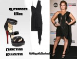 In Demi Lovato's Closet - Alexander Wang Draped Dress & Christian Louboutin Amber Platform Sandals