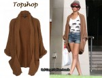 In Rihanna's Closet - Topshop Knitted Stitch Slouch Cardigan