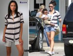 In Sandra Bullock's Closet - Monrow Bold Stripe Shirt