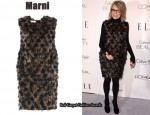 In Diane Keaton's Closet - Marni Textured Dress