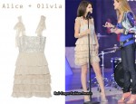 In Selena Gomez' Closet - Alice + Olivia Marianna Tiered Silk-Blend Dress
