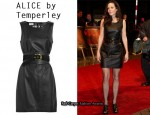 In Mary-Louise Parker's Closet - ALICE by Temperley Mara Leather Shift Dress