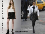 In Kourtney Kardashian's Closet - Rebecca Minkoff Leather Pleated Clueless Skirt