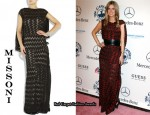 In Nicky Hilton's Closet – Missoni Arabella Crochet-Knit Gown