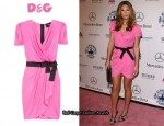 In Daisy Fuentes' Closet - D&G Satin Pink Wrap Dress
