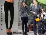 In Halle Berry's Closet - Charley 5.0 3 Way Zip Denim Leggings