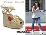 In Sandra Bullock's Closet - Paloma Barceló Acacia Wedges