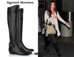 In Ashley Tisdale's Closet - Sigerson Morrison Leather Riding Boots