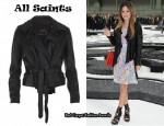 In Rachel Bilson's Closet - All Saints Leather Jacket