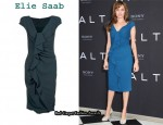 In Angelina Jolie's Closet - Elie Saab Ruffle Front Dress