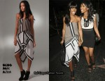 In Kelly Rowland's Closet - BCBG Max Azira Colour-Block Dress
