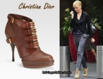 In Charlize Theron's Closet - Christian Dior Cavaliere Platform Ankle Boots