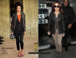 Runway To BBC Radio One Studios - Cheryl Cole In Mulberry