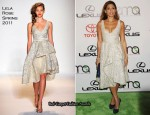 20th Annual Environmental Media Awards - Eva Mendes In Lela Rose
