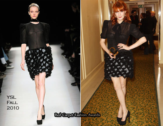 655739c23cab Florence Welch In YSL – 2010 Q Awards - Red Carpet Fashion Awards