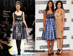 "2010 London Film Festival ""Miral"" Photocall – Rulea Jebreal In Prada & Freida Pinto In Christian Dior"
