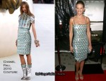 """Conviction"" LA Premiere - Hilary Swank In Chanel Couture"