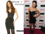 In Jessica Szohr's Closet - Alice + Olivia Annie Front Zip Leather Bustier Dress