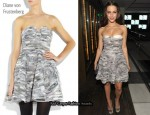 In Jessica Lowndes' Closet - Diane von Furstenberg Delancy Strapless Dress