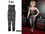 In Kelly Osbourne's Closet - Tibi Strapless Lace Jumpsuit
