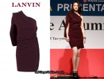 In Tang Wei's Closet - Lanvin One Shoulder Drape Dress