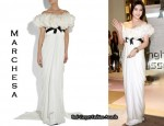 In Fan Bing Bing's Closet - Marchesa Ruffled Gown