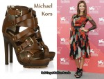 In Jessica Alba's Closet - Michael Kors Strappy Buckle Leather Sandals