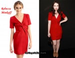 In Michelle Trachtenberg's Closet - Rebecca Minkoff Ilaria Red Dress