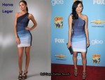In Naya Rivera's Closet - Herve Leger Ombre One Shoulder Dress