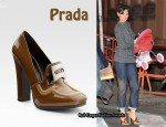 In Katie Holmes' Closet - Prada Bi-Colour Patent Loafer Pumps