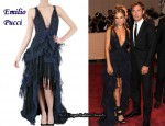 In Sienna Miller's Closet - Emilio Pucci Lace Jacquard Gown