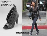 In Emmanuelle Chriqui's Closet - Report Signature Vandalia Open Toe Booties