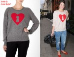 In Gemma Arterton's Closet - Sonia by Sonia Rykiel Cashmere Key To My Heart Jumper