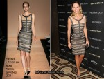 """Conviction"" New York Screening - Hilary Swank In Hervé Léger by Max Azria"