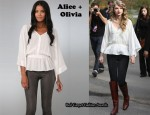 In Taylor Swift's Closet - Alice + Olivia Diane Flutter Dolman Blouse