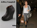 In Ashley Tidsale's Closet - Jeffrey Campbell Tick Wedge Booties