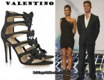 In Cheryl Cole's Closet - Valentino Bow-Embellished Satin Sandals