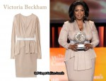 In Oprah Winfrey's Closet - Victoria Beckham Liquid Silk and Jersey Dress