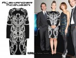 In Olivia Wilde's Closet - Alexander McQueen Intarsia Dress